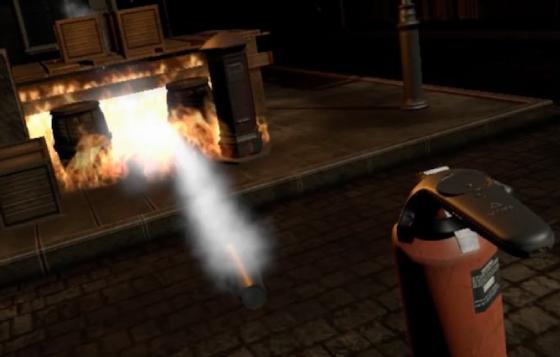 VR消火体験