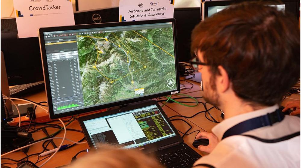 航空画像を使用したオーストリアの災害対応演習