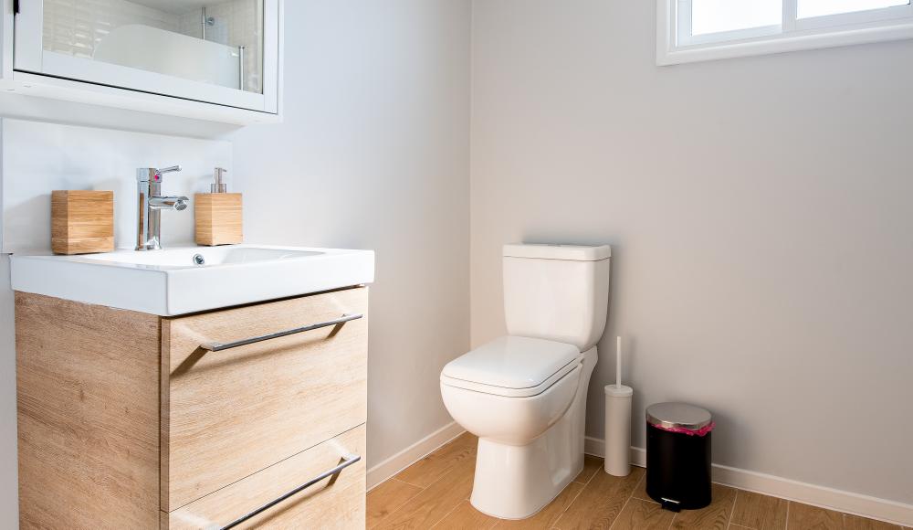 通常時と災害時、切り替え可能な洋式水洗トイレ